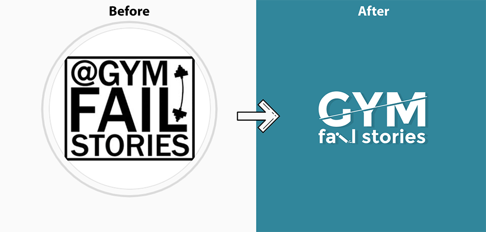 gym fail stories norwich logo designer